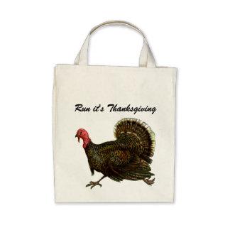Vintage Turkey Organic Grocery Tote Canvas Bag