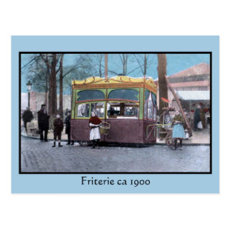 vintage turn of the century friterie postcard