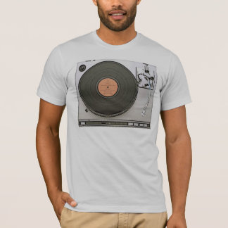 Vintage Turn Table gray semi fitted mens tshirt