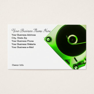 Vintage Turntable Record Player Business Card
