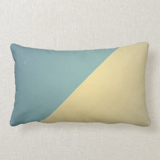 Vintage Turquoise Blue Cream ColorBlock Background Lumbar Pillow