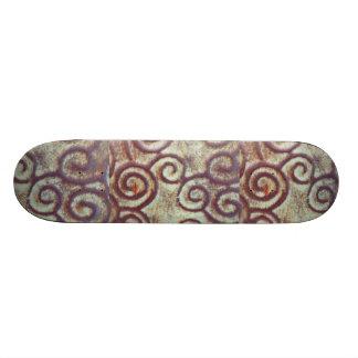 VINTAGE TURQUOISE/BROWN METAL DESIGN SKATE DECKS