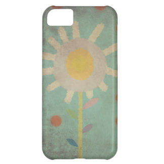 Vintage Turquoise Old One Flower Case iphone 5 - 4
