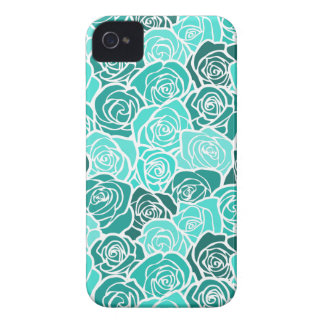 Vintage turquoise roses BlackBerry Bold Case