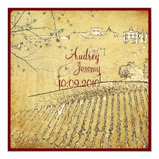 Vintage, Tuscany Vinyard/wedding invitations