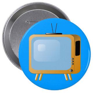 Vintage TV Round Button