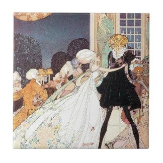 Vintage Twelve Dancing Princesses by Kay Nielsen Small Square Tile