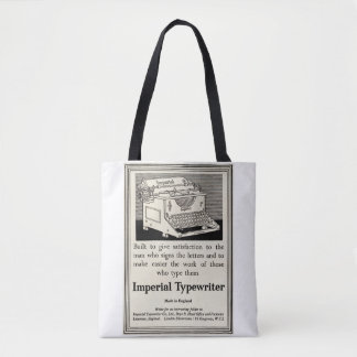 Vintage typewriter advert from 1935 tote bag