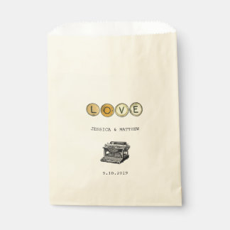 Vintage Typewriter and Antique Typewriter Keys Favour Bags