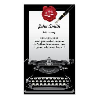 Vintage Typewriter Attorney Business Card