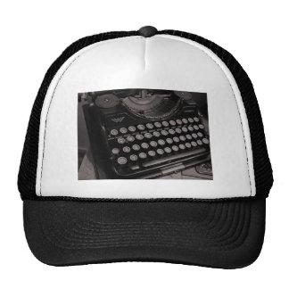 Vintage typewriter B&W Cap