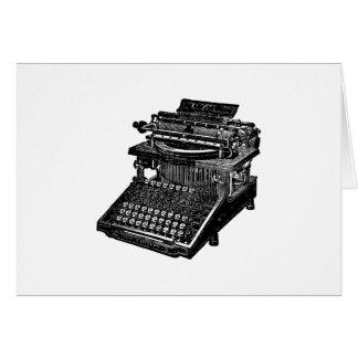 Vintage Typewriter Card