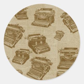 Vintage Typewriter Collage Sticker