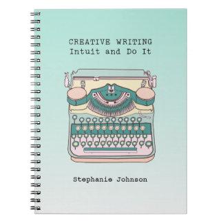 Vintage Typewriter Creative Writing Notebook