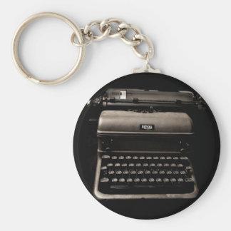 Vintage Typewriter Designs Key Ring