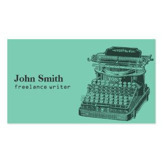 Vintage Typewriter Freelance Writer Business Cards