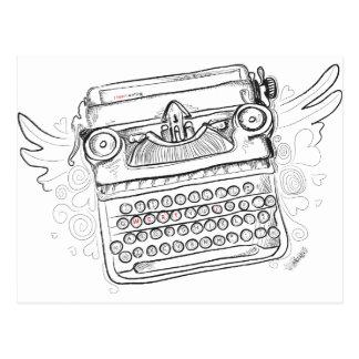 Vintage Typewriter I Heart Writing Postcard