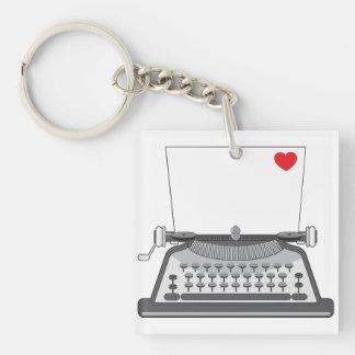 Vintage Typewriter Keychain