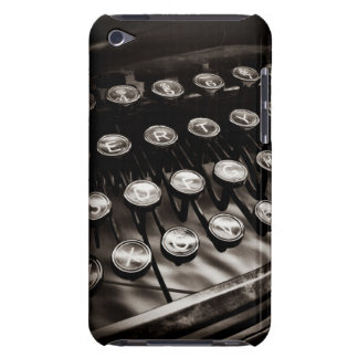 Vintage Typewriter Keys in Black and White iPod Touch Case-Mate Case