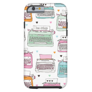 Vintage typewriter pattern art iPhone 6 case