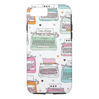 Vintage typewriter pattern art iPhone 7 case
