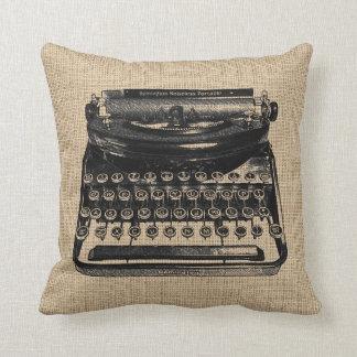 Vintage Typewriter Pillow