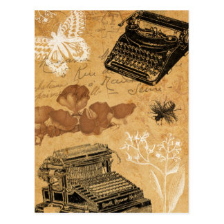 Vintage Typewriter Postcard
