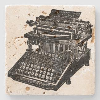 Vintage Typewriter Stone Coaster