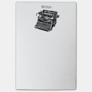 Vintage Typewriter Writer Ink Drawing Sketch Post-it Notes