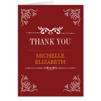 Vintage Typography Bar/Bat Mitzvah Thank You Card