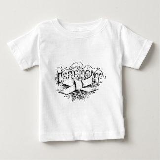 vintage typography ceremony script baby T-Shirt
