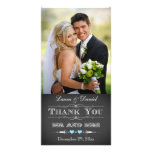 Vintage Typography Chalkboard Wedding Photo Card