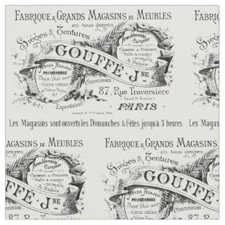 vintage typography gouffe design fabric