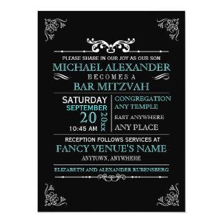 Vintage Typography Poster Bar-Bat Mitzvah 14 Cm X 19 Cm Invitation Card