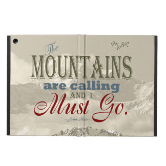 Vintage Typography The mountains are calling; Muir Case For iPad Air