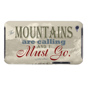 Vintage Typography The mountains are calling; Muir Case-Mate iPod Touch Case