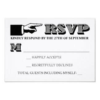 Vintage Typography Wedding Invitation RSVP