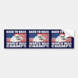 Vintage U.S World War Champs 3-in-1 Bumper Sticker