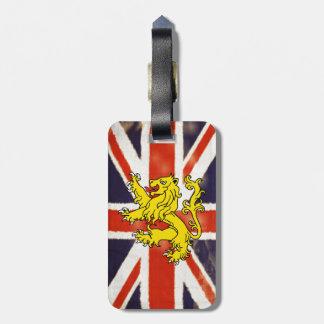 Vintage UK Flag Heraldry Lion Luggage Tag