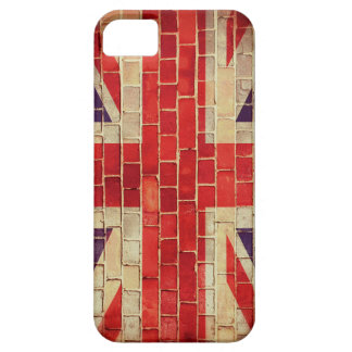 Vintage UK flag on a brick wall iPhone 5 Cover