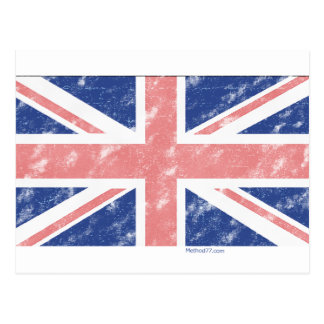 Vintage UK Flag Postcard