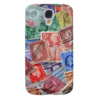 Vintage Uk Stamps Collection Galaxy S4 Cover