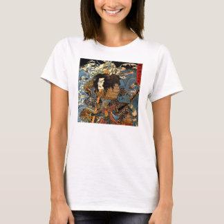 Vintage Ukiyo-e Japanese Samurai Painting T-Shirt