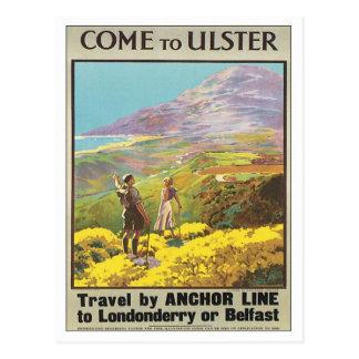 Vintage Ulster Londonderry Postcard
