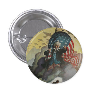 Vintage Uncle Sam Button