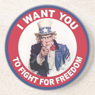 Vintage Uncle Sam I WANT YOU Coaster