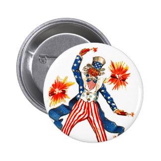 Vintage Uncle Sam July 4th Patriotic Pins