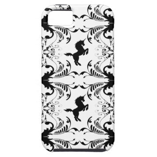 Vintage unicorn chandelier pattern iPhone 5 cases