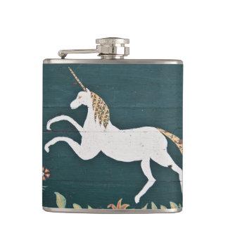 Vintage unicorn hip flask