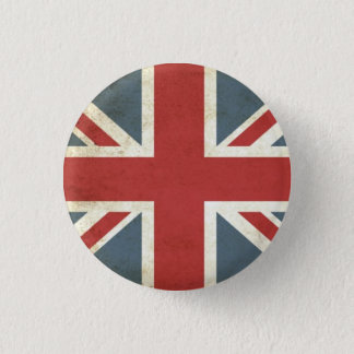 Vintage union jack 3 cm round badge